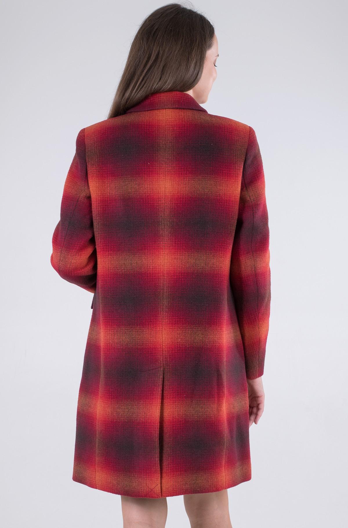 Coat WOOL BLEND CHECK CLASSIC COAT-full-3