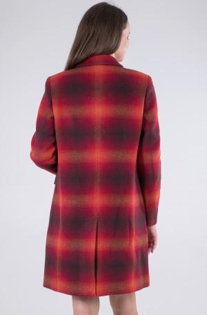Coat WOOL BLEND CHECK CLASSIC COAT-3