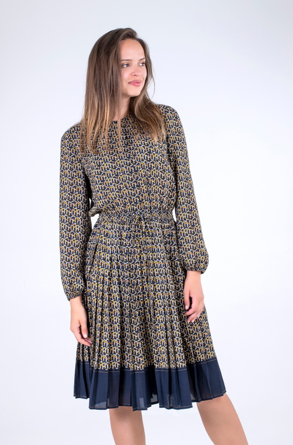 TH CUBE PLEATED KNEE F&F DRESS-hover