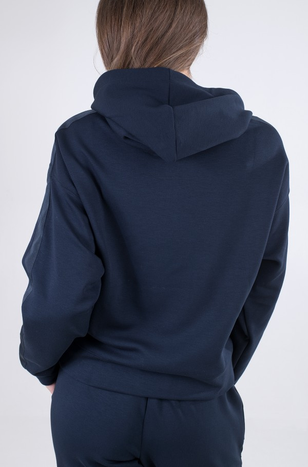 RELAXED GROSSGRAIN HOODIE-hover