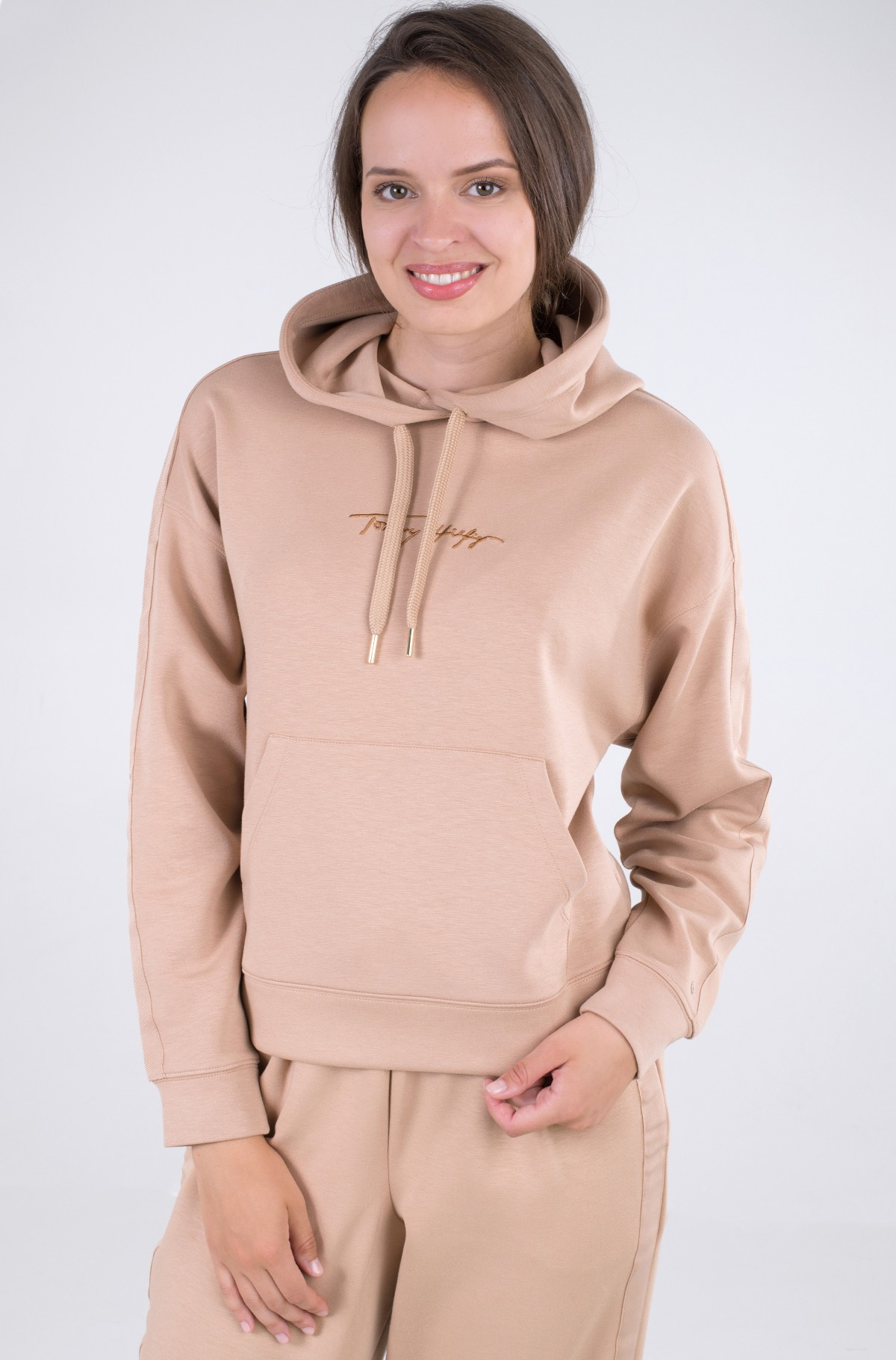 Sporta džemperis RELAXED GROSSGRAIN HOODIE-full-2