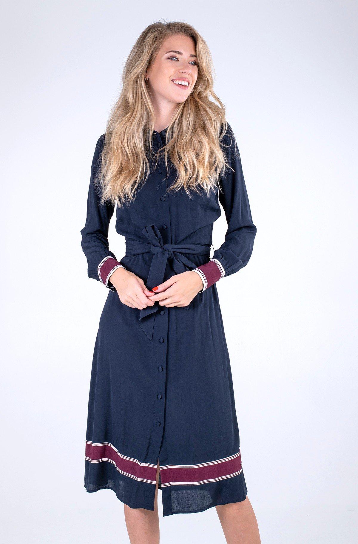 Kleit VIS CREPE MIDI SHIRT DRESS LS-full-1