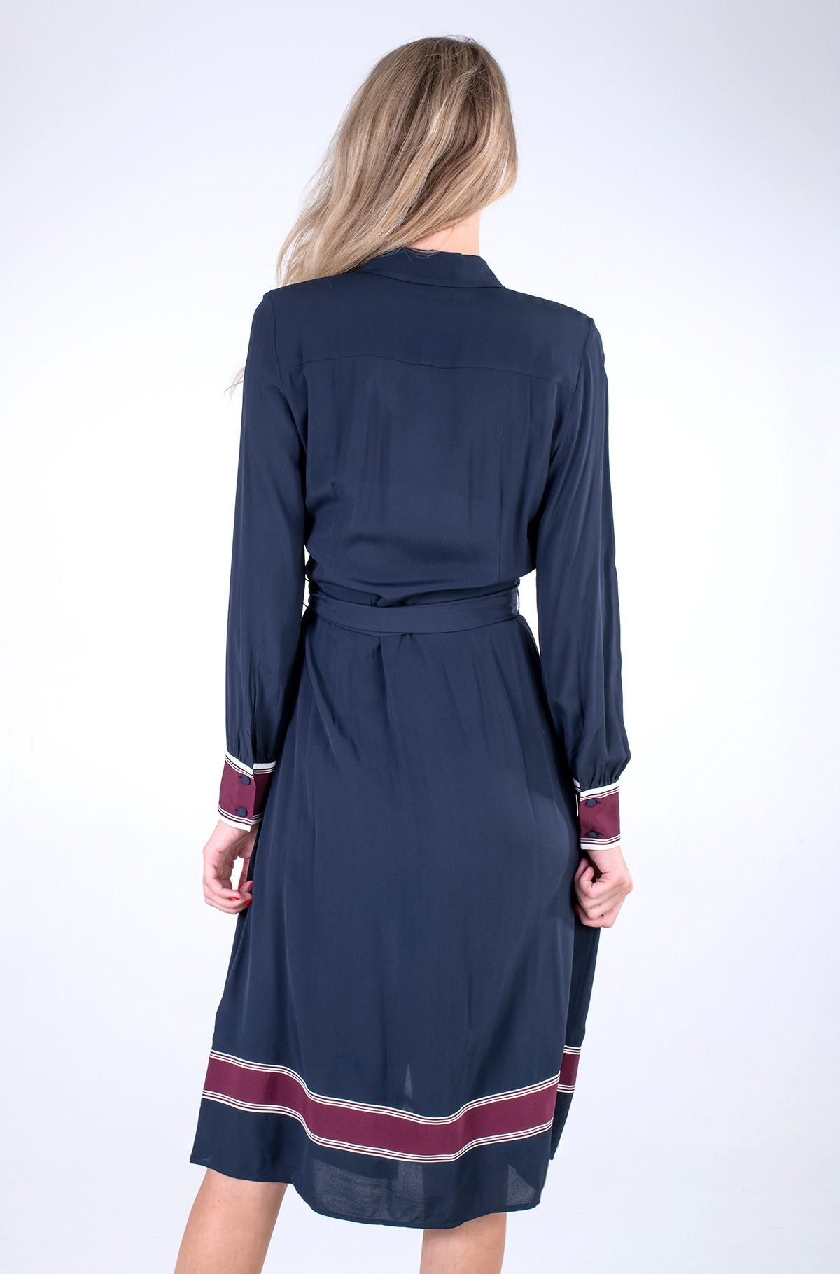 Kleit VIS CREPE MIDI SHIRT DRESS LS-full-2