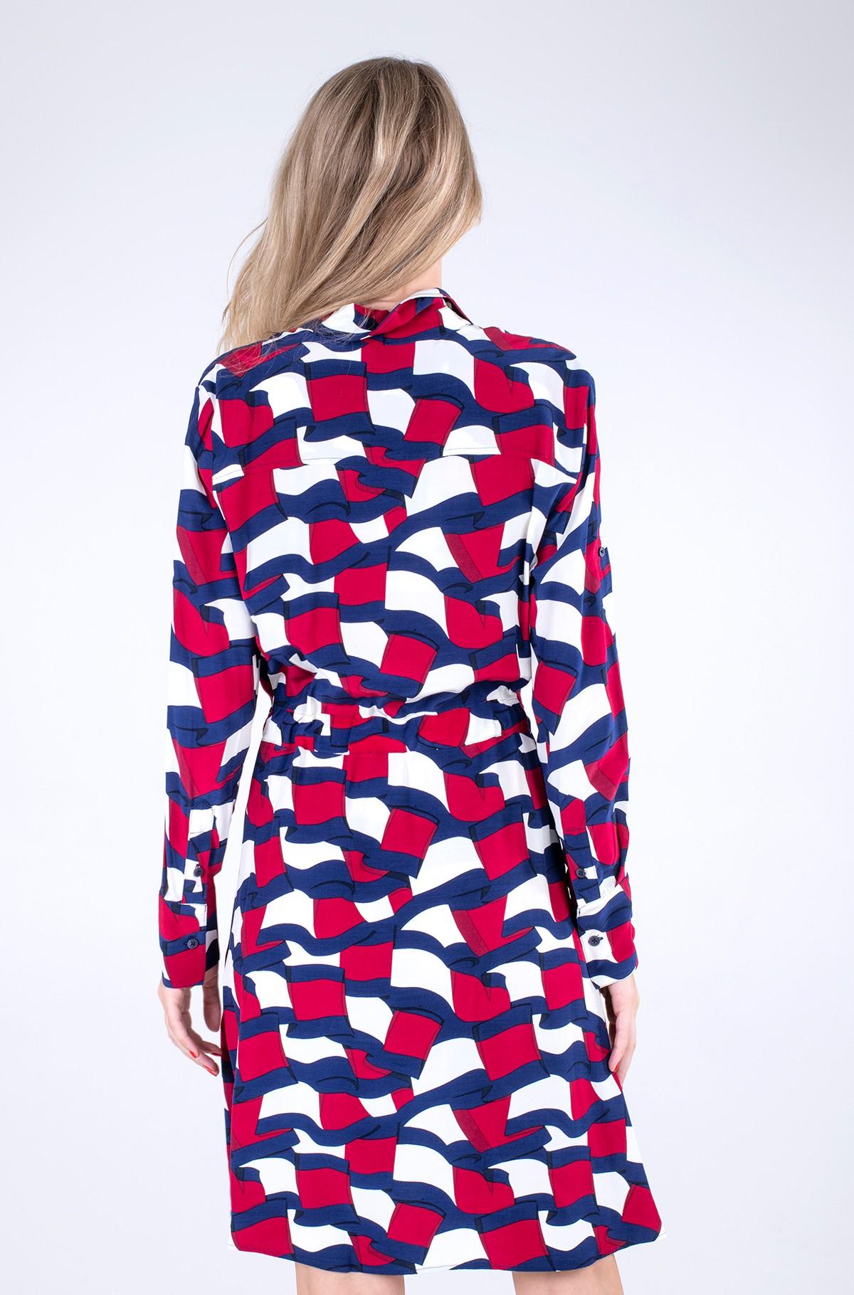 Kleit VISCOSE KNEE SHIRT DRESS LS-full-2