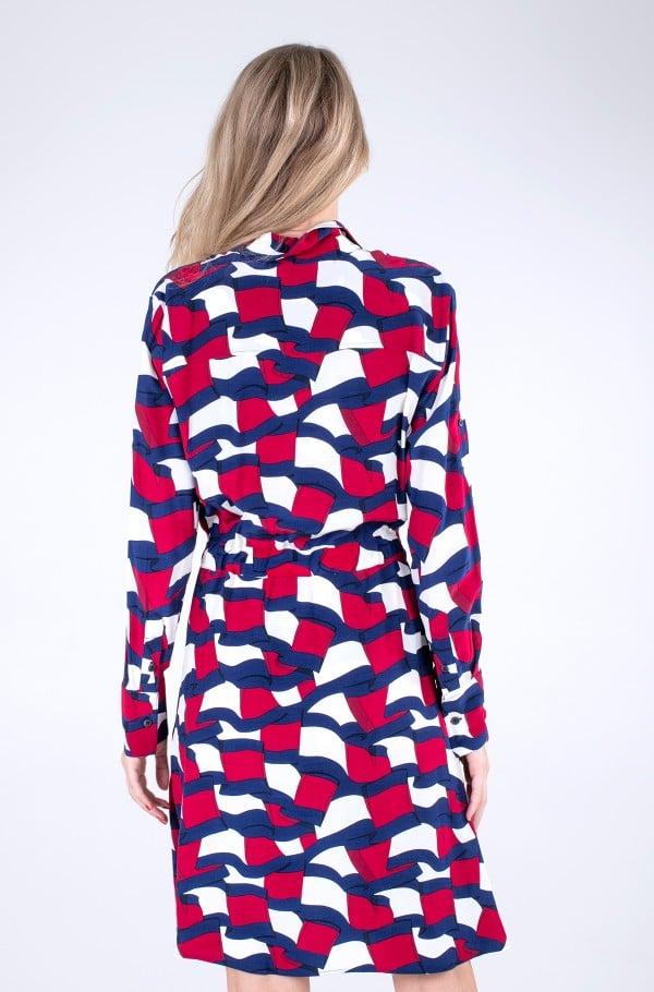 VISCOSE KNEE SHIRT DRESS LS-hover