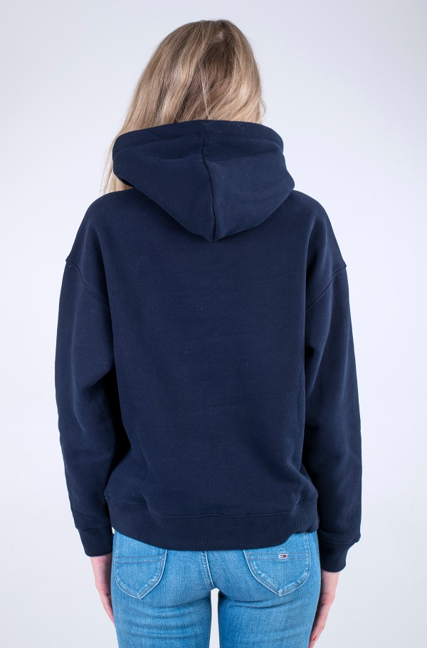 RELAXED GOLD SCRIPT HOODIE-hover