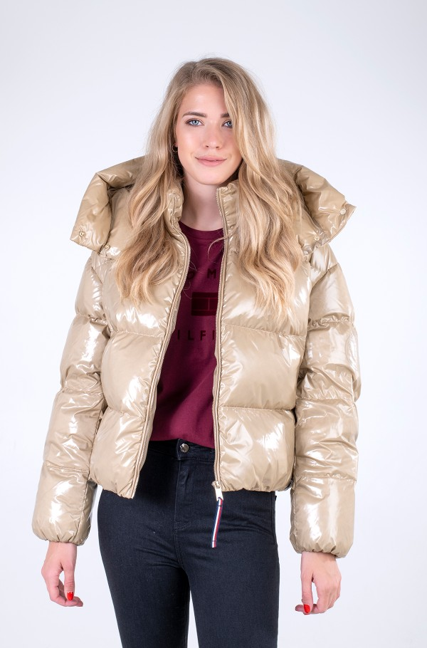 GLOSSY DOWN PUFFER JACKET
