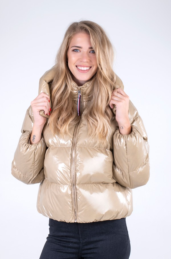 GLOSSY DOWN PUFFER JACKET-hover