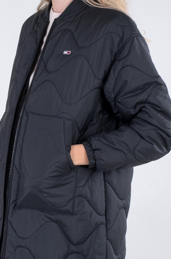 TJW QUILTED BOMBER COAT-hover