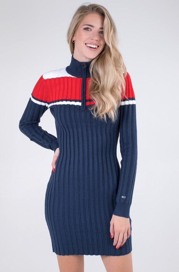 TJW COLORBLOCK SWEATER DRESS