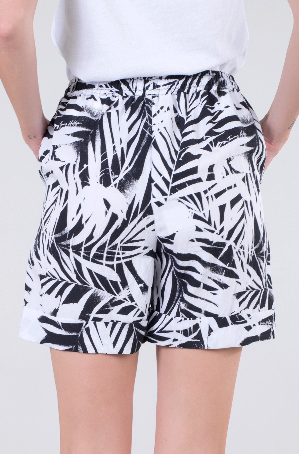 Lühikesed püksid VISCOSE PALM PRINT PULL ON SHORT-full-2