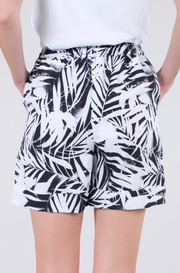 VISCOSE PALM PRINT PULL ON SHORT-hover