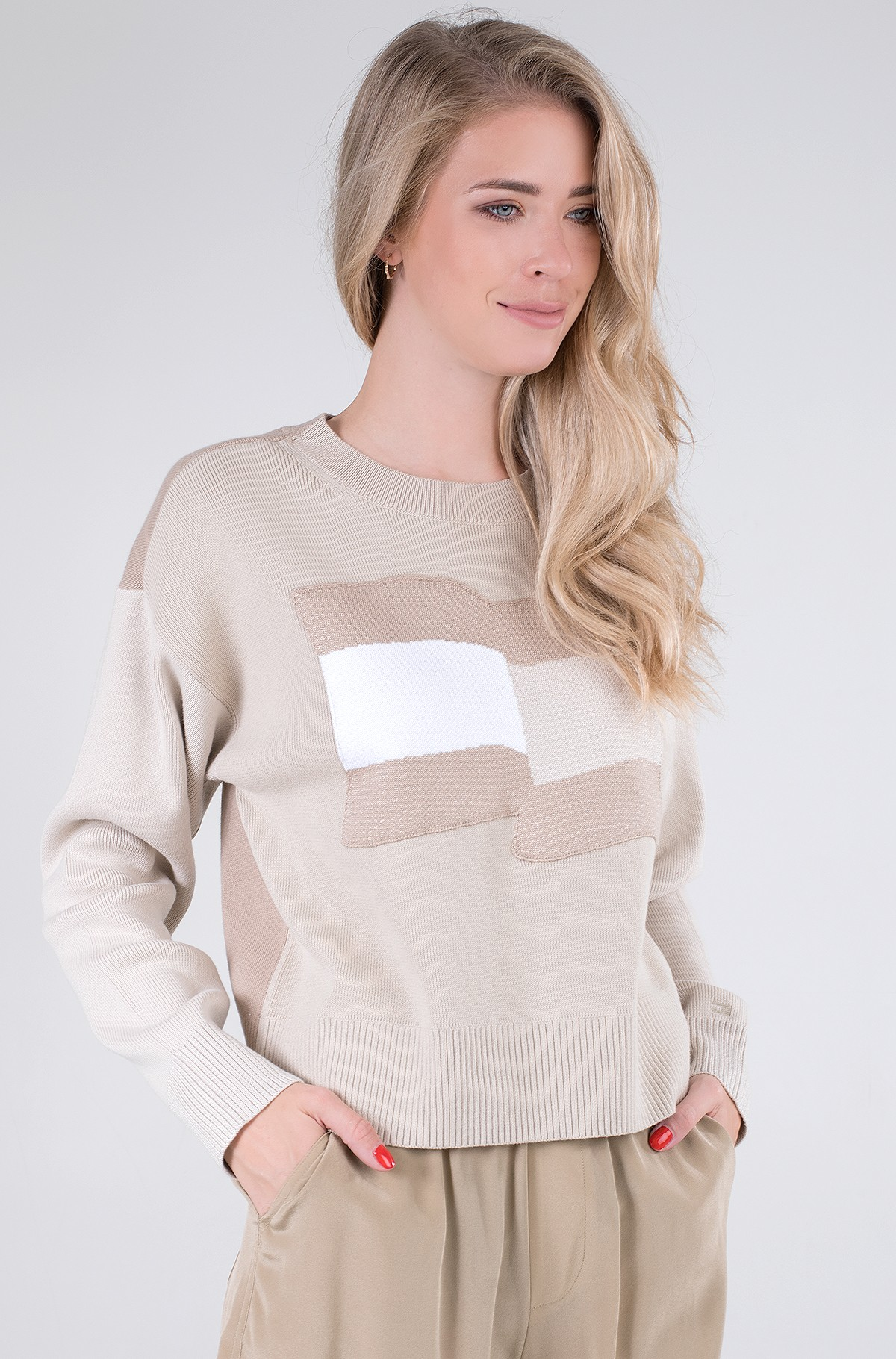 Knitwear ICON ORG COTTON FLAG SWEATER-full-2