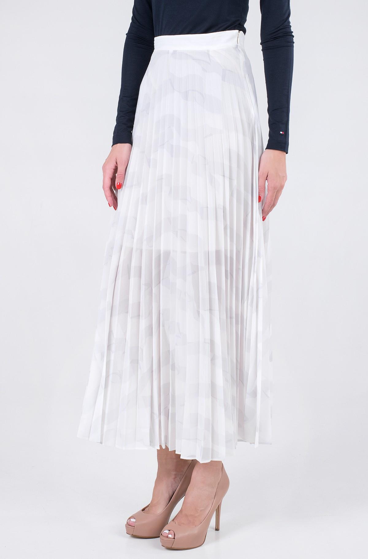 Skirt ICON CHIFFON PLEATED LONG SKIRT-full-1