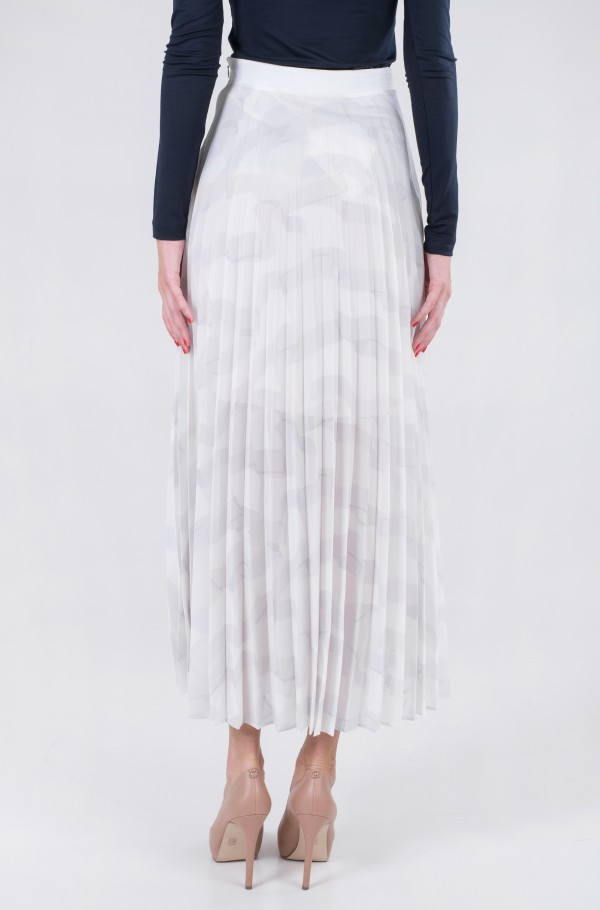 ICON CHIFFON PLEATED LONG SKIRT-hover