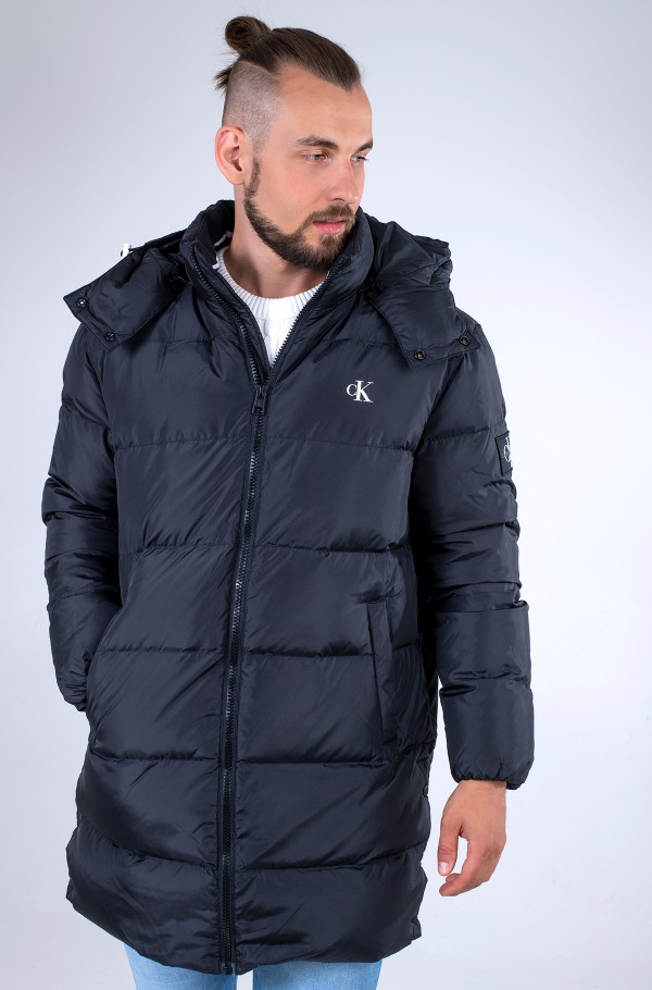 ESS LONG HOODED DOWN JACKET