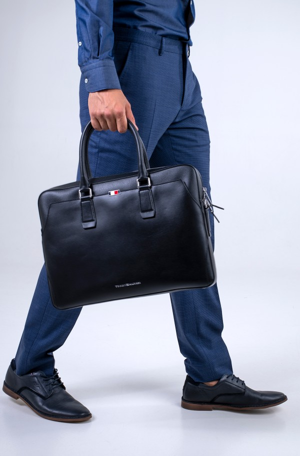 BUSINESS LEATHER SLIM COMP BAG