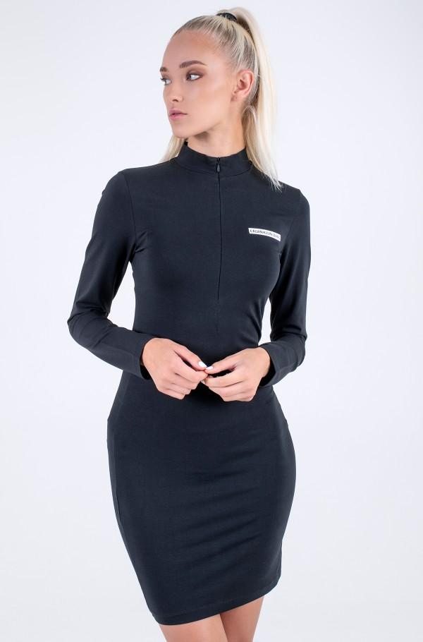 MICROFLOCK HALFZIP BODYCON DRESS