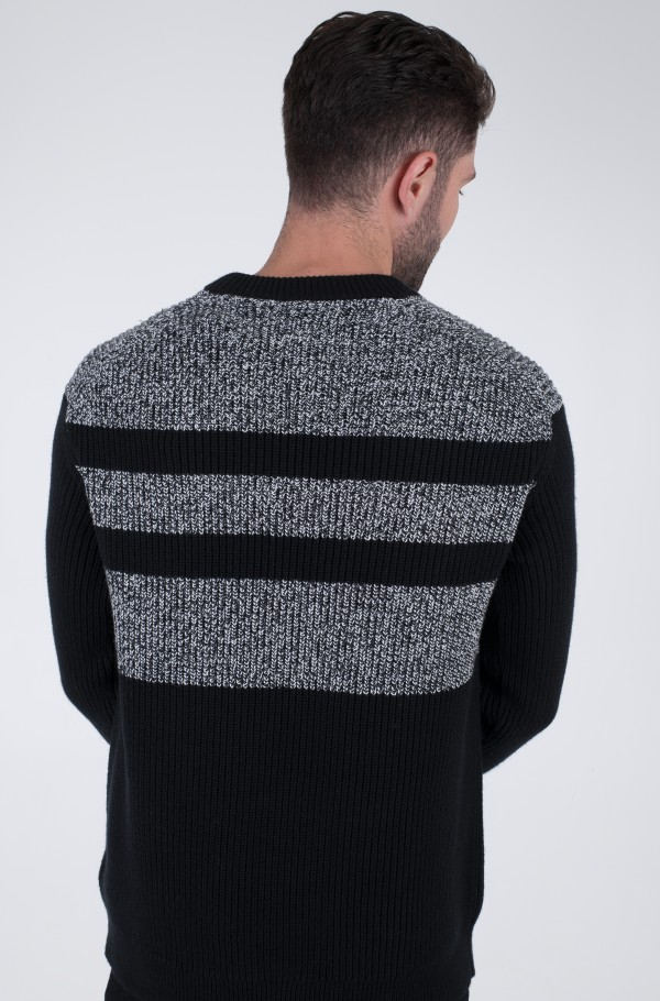 HEATHER BLOCKED SWEATER-hover