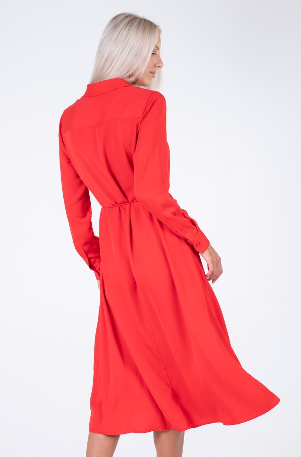 RECYCLED CDC SHIRT MIDI DRESS-hover