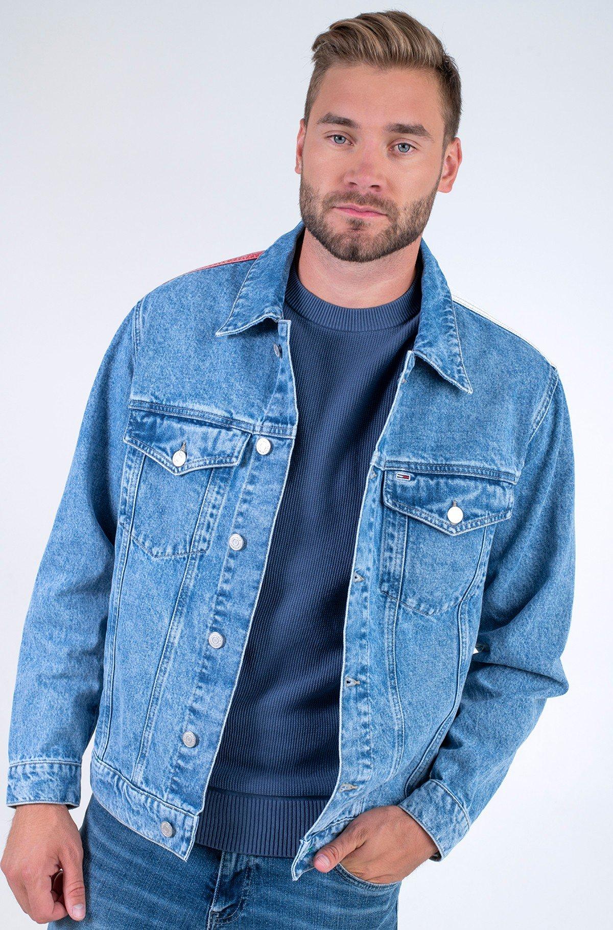 Denim jacket OVERSIZE TRUCKER JK AE712 SVLBRD-full-1