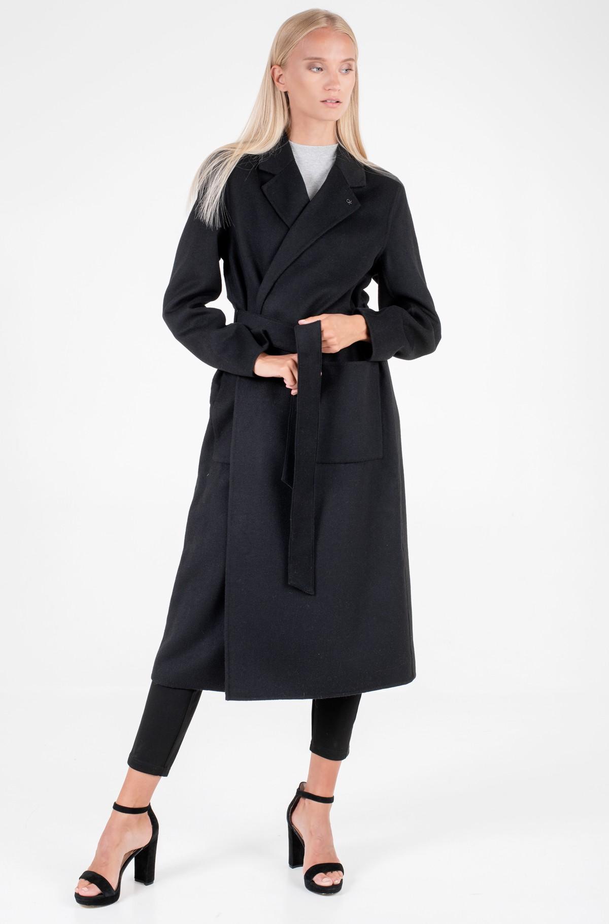 Villane mantel DOUBLE FACE LONG WRAP COAT-full-1