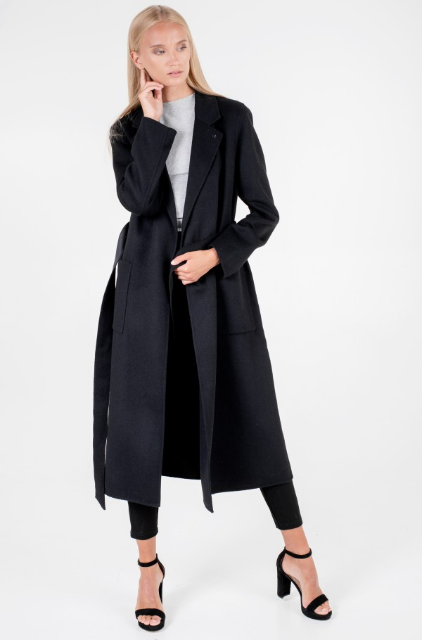 DOUBLE FACE LONG WRAP COAT-hover