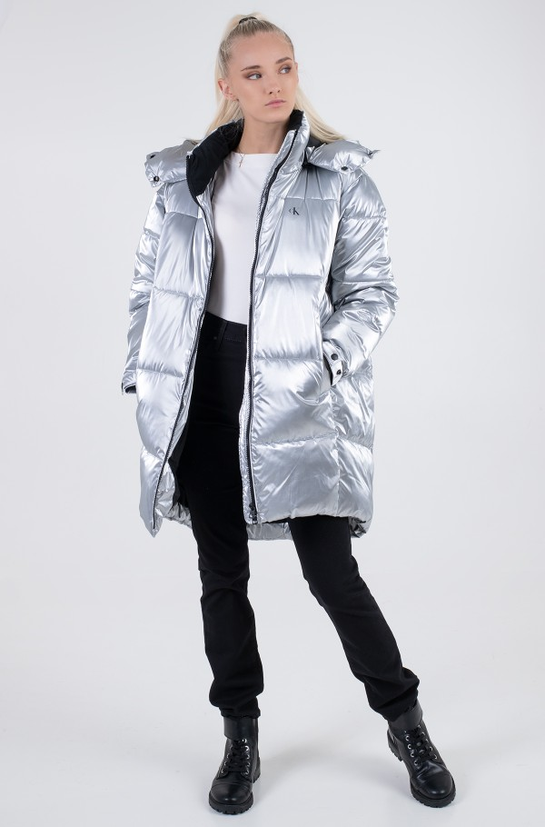 COCOON OVERSIZED SILVER JACKET