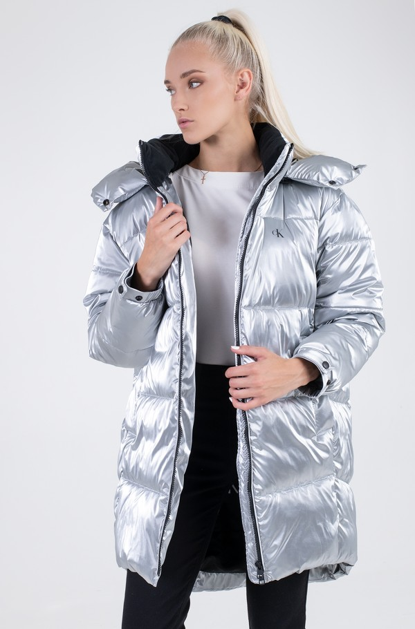 COCOON OVERSIZED SILVER JACKET-hover