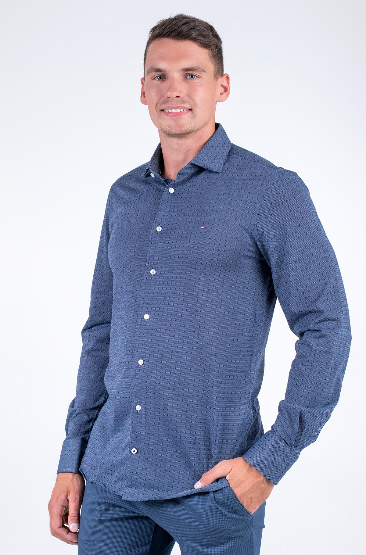 Shirt KNITTED SLIM DOT SHIRT-full-1