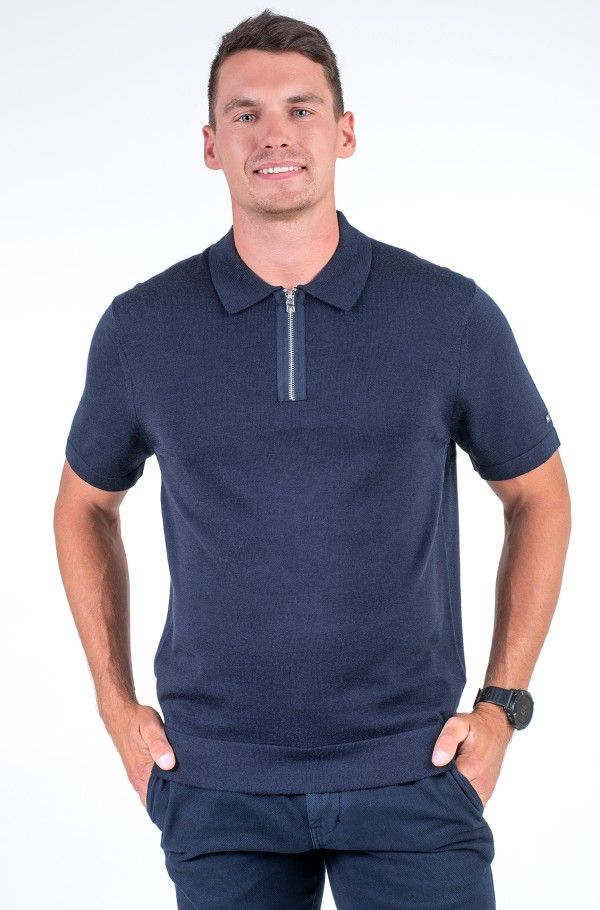 ELEVATED WOOL SILK BLEND POLO