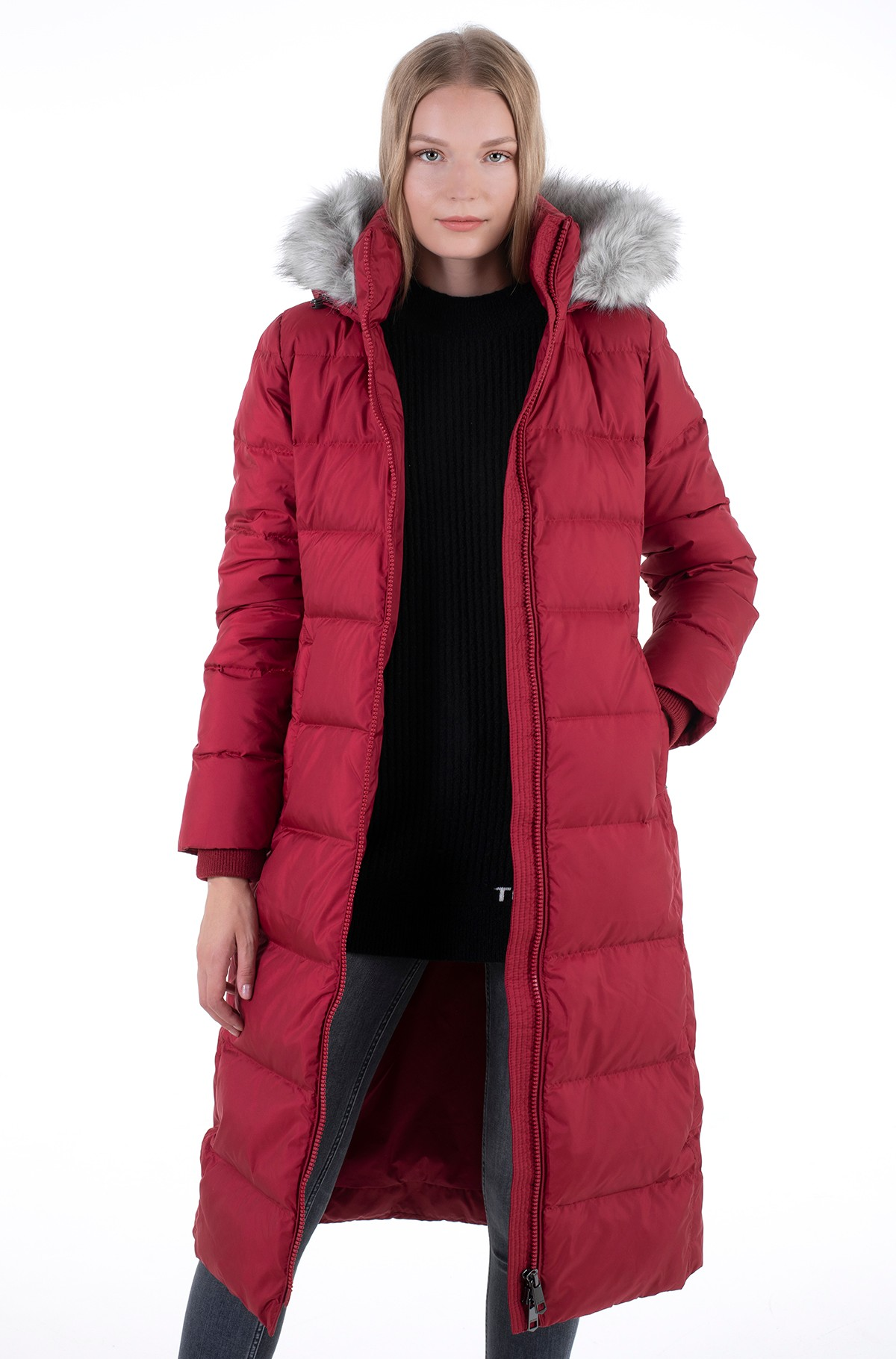Paltas TH ESS TYRA DOWN MAXI WITH FUR-full-1