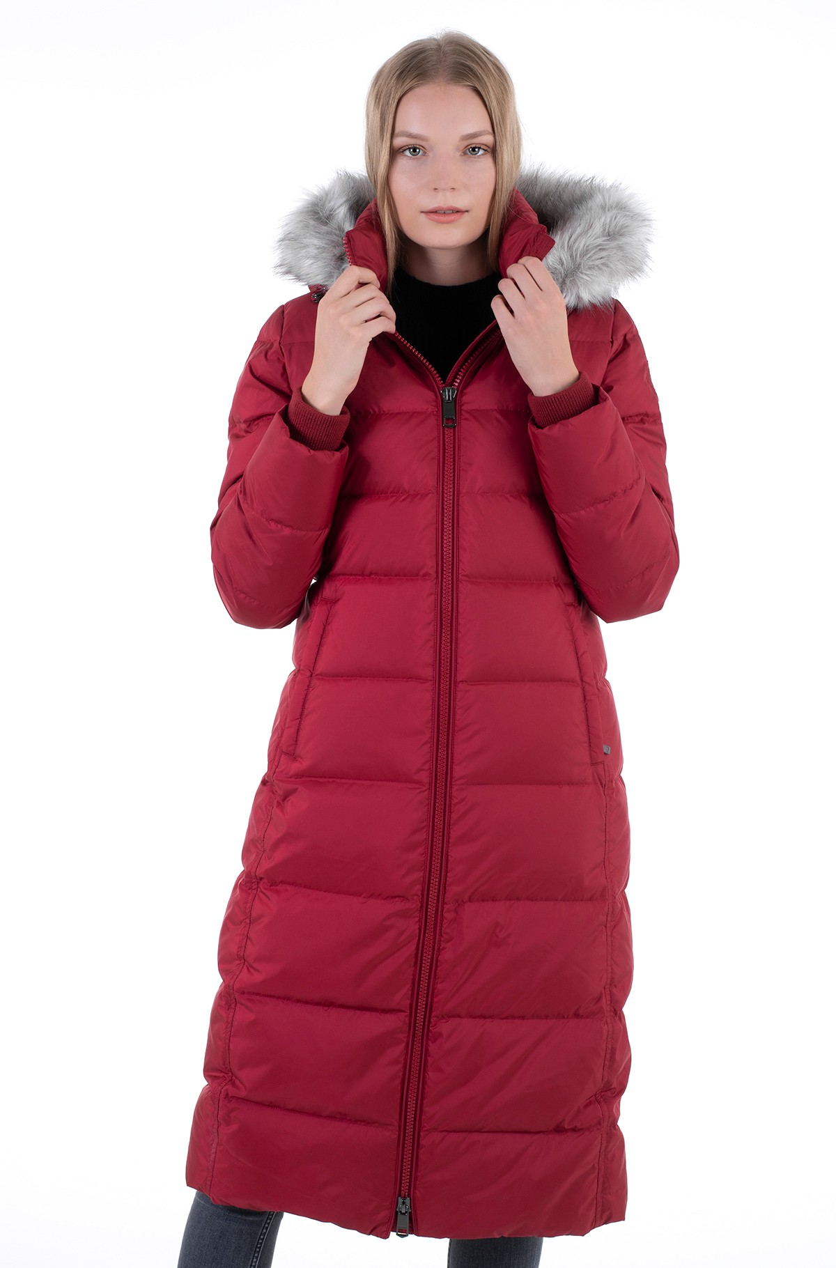 Paltas TH ESS TYRA DOWN MAXI WITH FUR-full-2