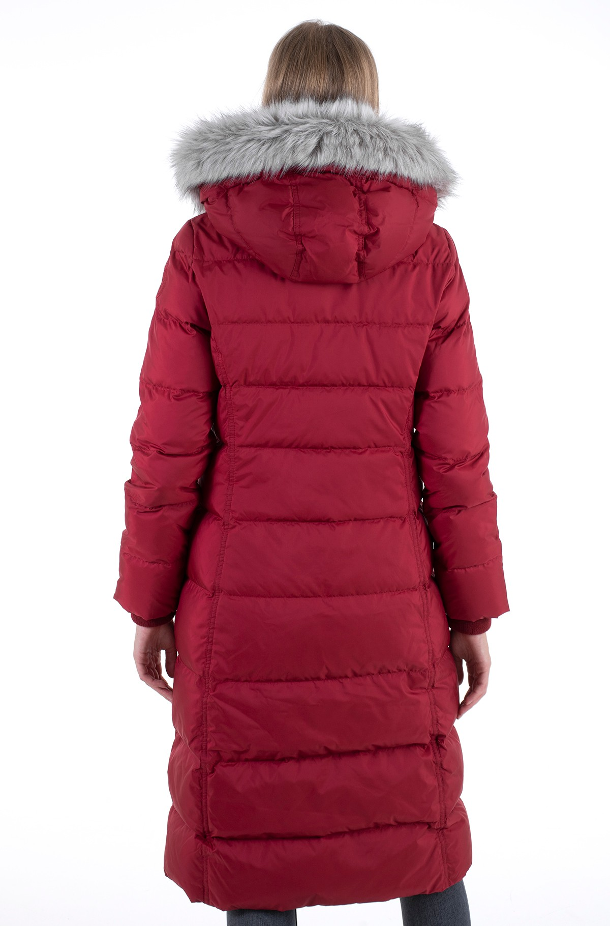 Paltas TH ESS TYRA DOWN MAXI WITH FUR-full-3