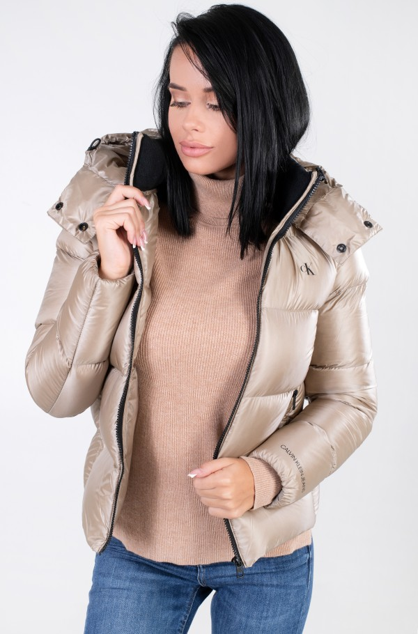 SHINY DOWN SHORT PUFFER JACKET-hover