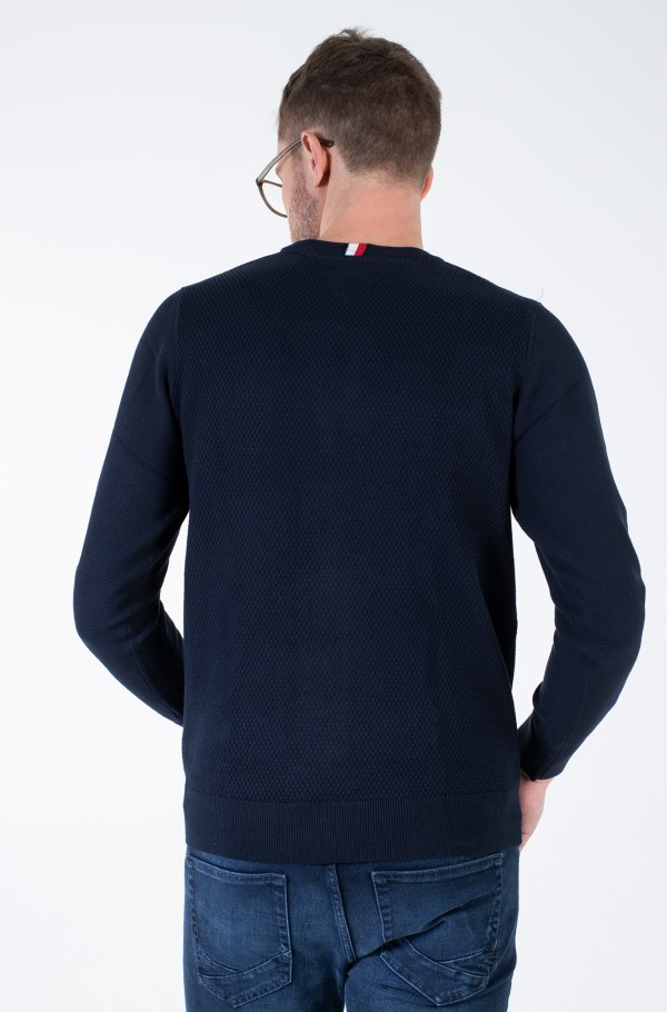 EXAGGERATED STRUCTURE CREW NECK-hover
