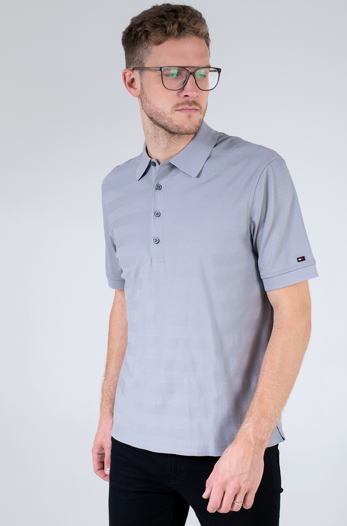 Polo krekls  ELEVATED WARP STRIPE CASUAL POLO-full-1
