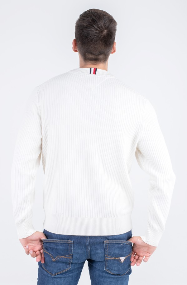 WAVY FLAG GRAPHIC RIB SWEATER-hover