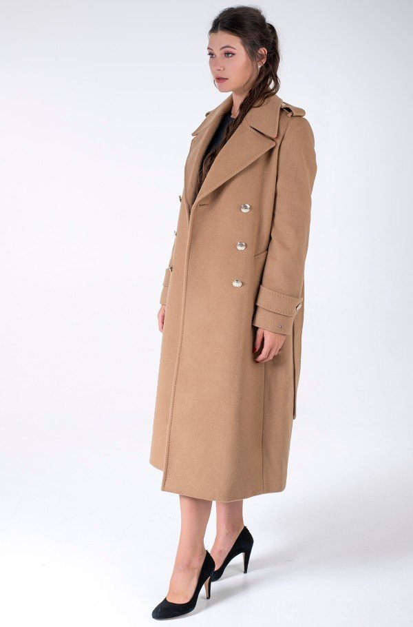 WOOL BLEND DB PADDED MAXI COAT-hover