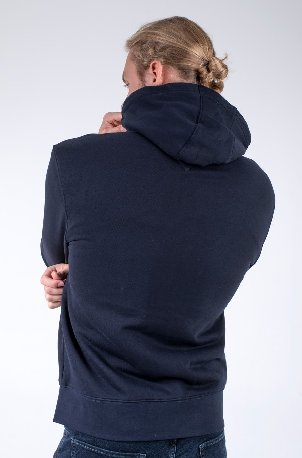 BASIC FUR LINED HOODIE-hover