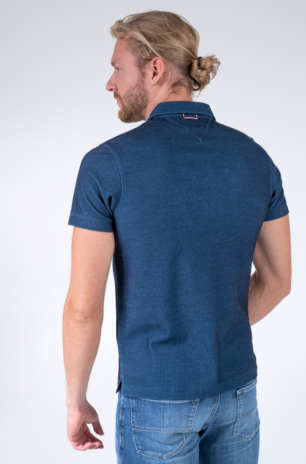 TWO TONE HONEYCOMB SLIM POLO-hover
