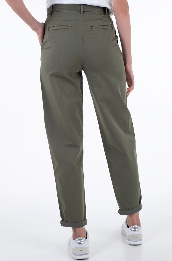 CO BLEND BELT TAPERED CHINO PANT-hover