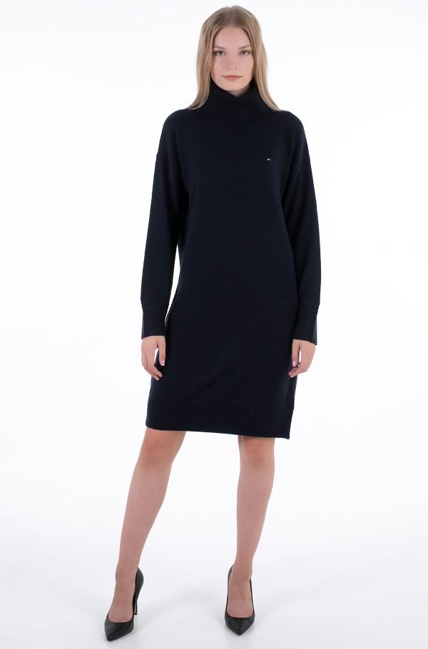 SOFTWOOL ROLL-NK KNEE DRESS LS