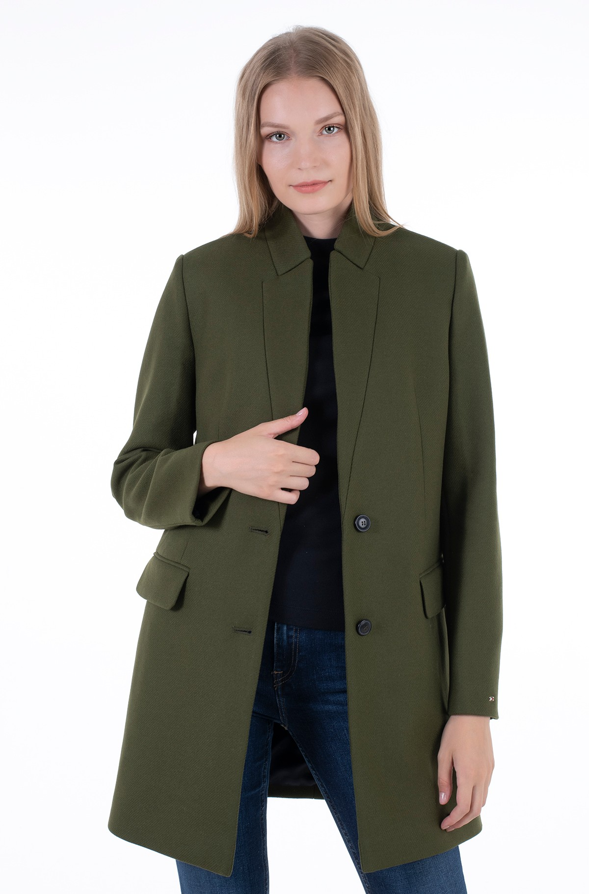 Coat WOOL BLEND SB HIP LENGTH COAT-full-1