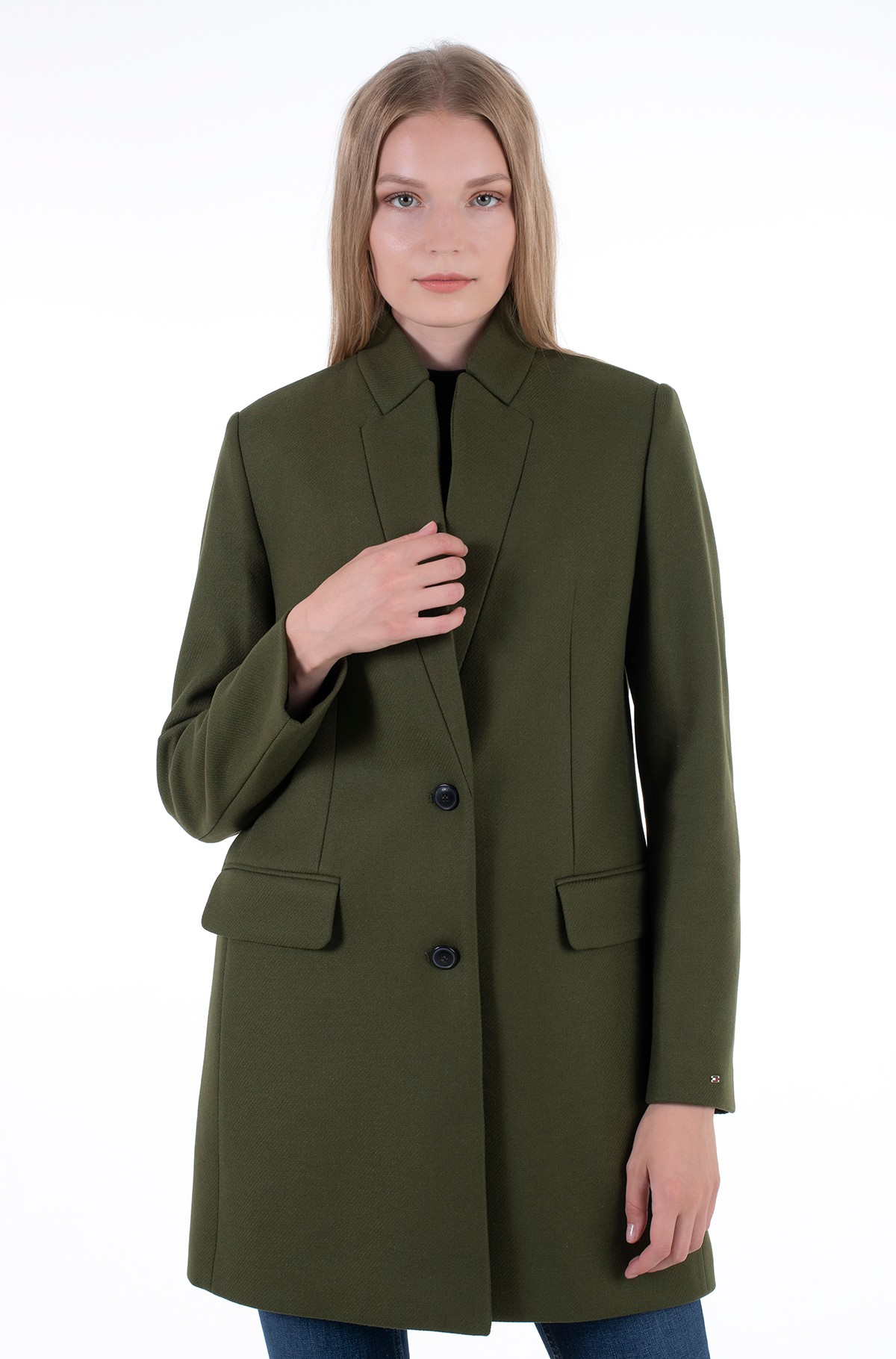 Coat WOOL BLEND SB HIP LENGTH COAT-full-2