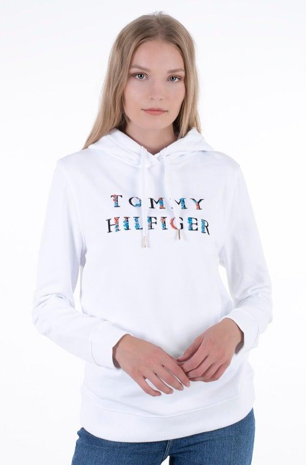 REGULAR FLORAL HOODIE-hover