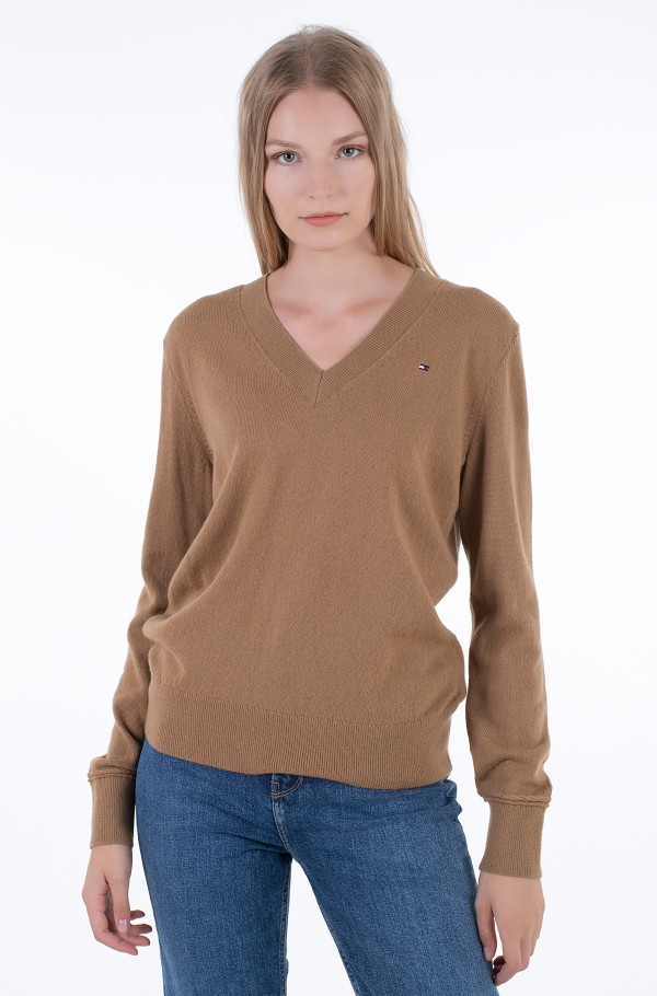 WOOL CASHMERE V-NK SWEATER