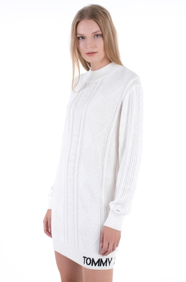 TJW CABLE SWEATER DRESS