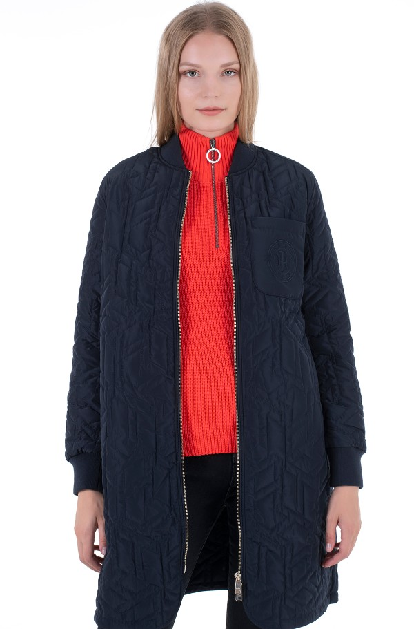 TH CUBE QUILTED LONG BOMBER