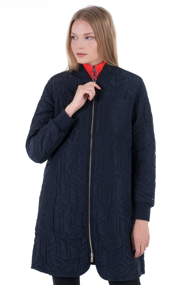 TH CUBE QUILTED LONG BOMBER-hover